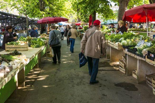 markt groenten en fruit
