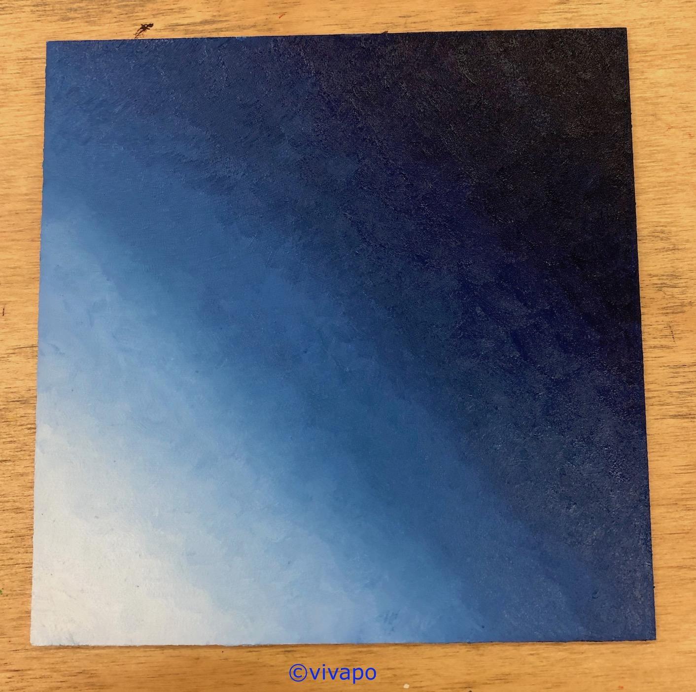 olieverf blauw