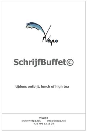 2019 - SchrijfBuffet poster